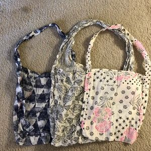 Trio of Free People Canvas Bags